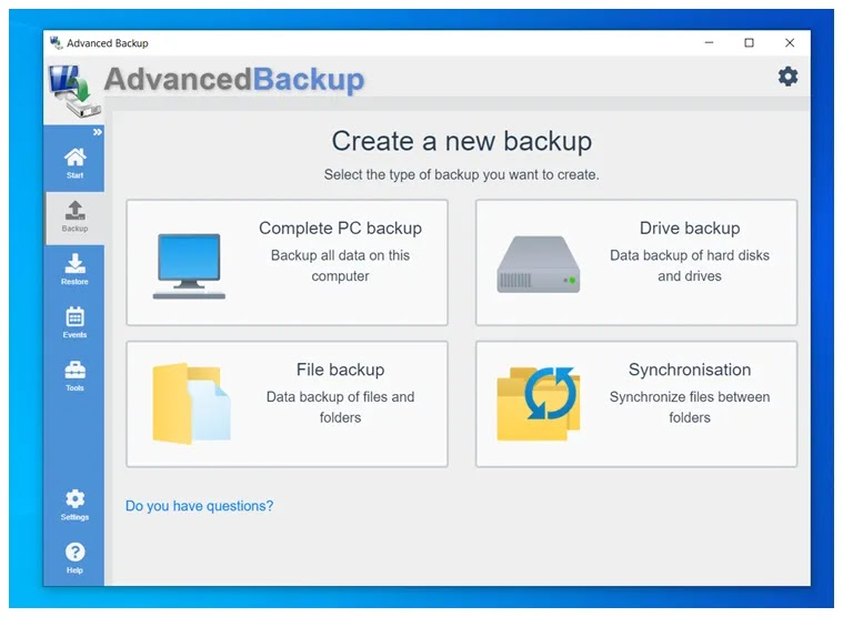 Advanced Backup : Κορυφαίο, δωρεάν λογισμικό αντιγράφων ασφαλείας και κλωνοποίησης
