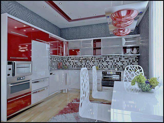 Armario Branco E Vermelho ~ Construindo Minha Casa Clean Cozinhas Vermelhas!!! Lindas e Super Modernas!