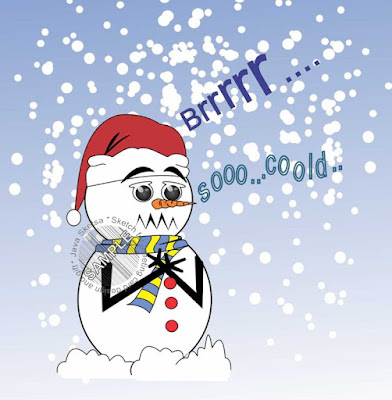 snowman color clipart