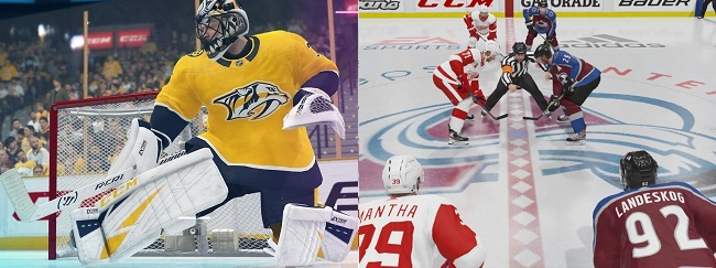 Comparison and differences in NHL 21 vs NHL 20