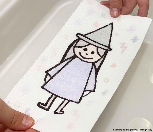 Halloween Magic Paper Towel Art Science