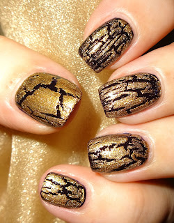 Wendy S Delights Avon Mosaic Effects Top Coat Gold Glimmer