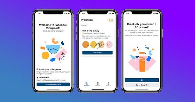 فيسبوك تطلق تطبيقاً جديداً لجمع المعلومات بمقابل مادي