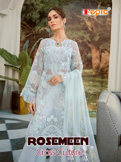 Fepic Rosemeen Cross Culture  Wedding Wear Pakistani Suits Collection, Fepic Rosemeen Wedding Wear Pakistani Suits Cross Culture In Wholesale Rate