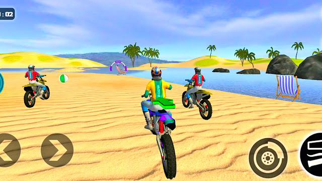 Single and Multiple Beach Bike Water Surfer Game - apk download   Bike Games   Gadi Game