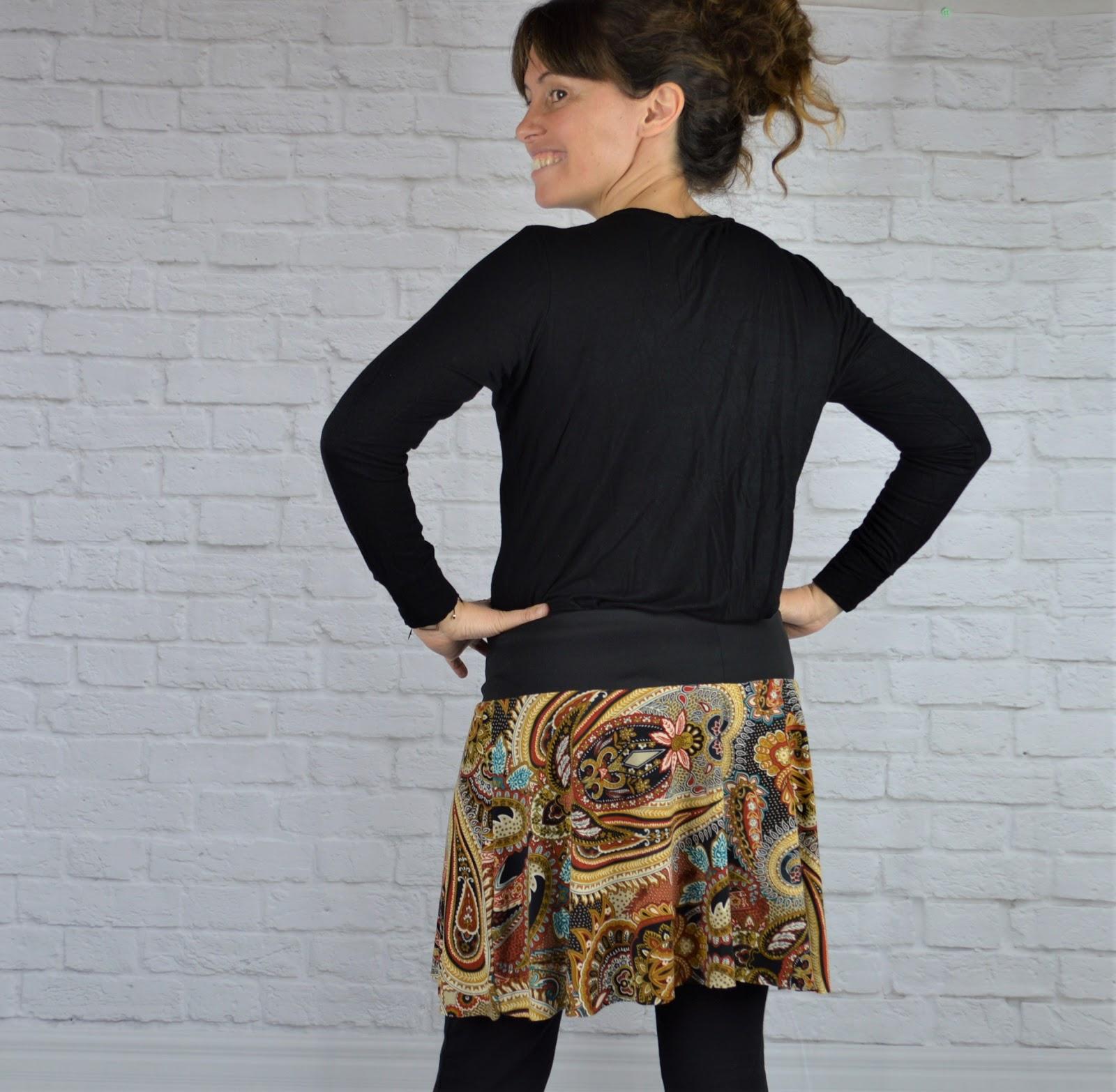 falda handmade estampado étnico uVe