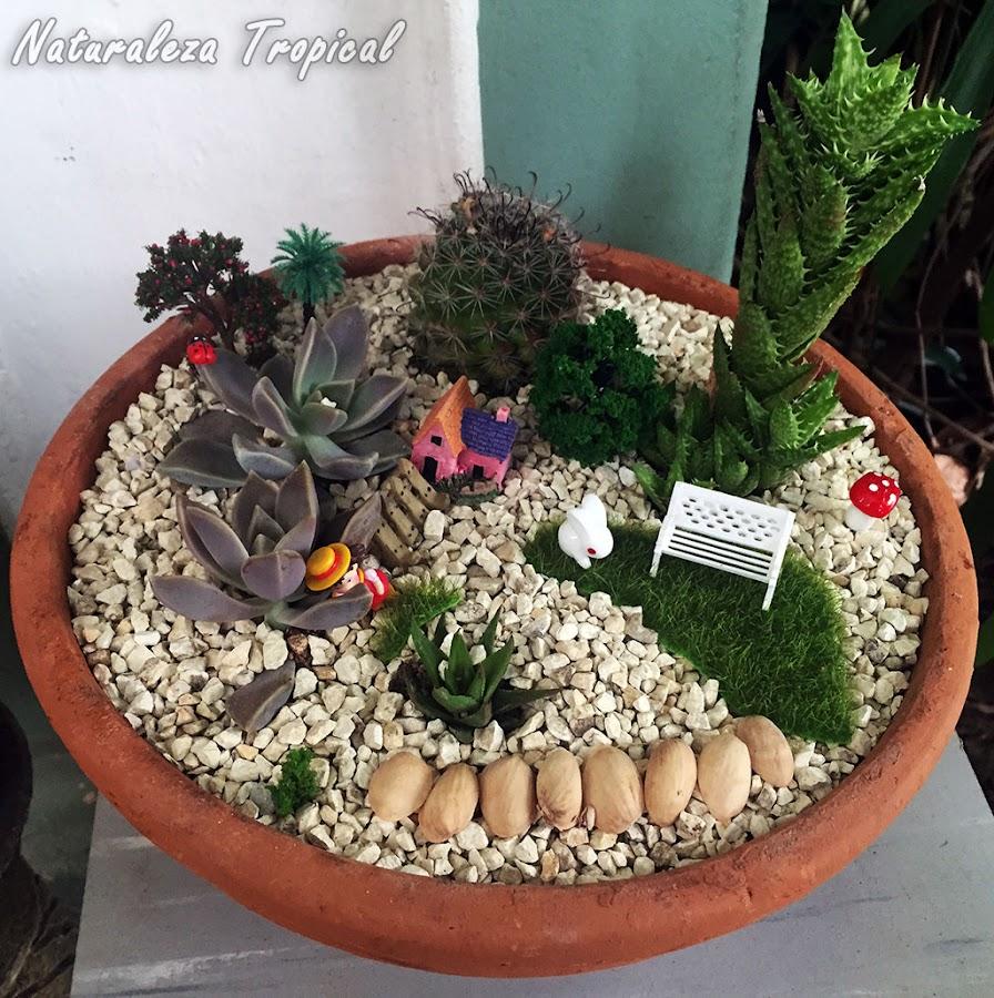 Otra decoración con plantas suculentas en macetas