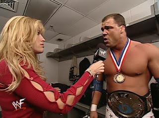 WWE / WWF - Armageddon 2000 - Lilian Garcia interviews WWF Champion Kurt Angle