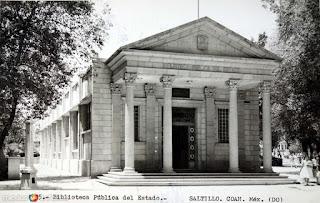 Archival Photograph of La Biblioteca Publica del Estado (Saltillo, Coahuila, Mexico)