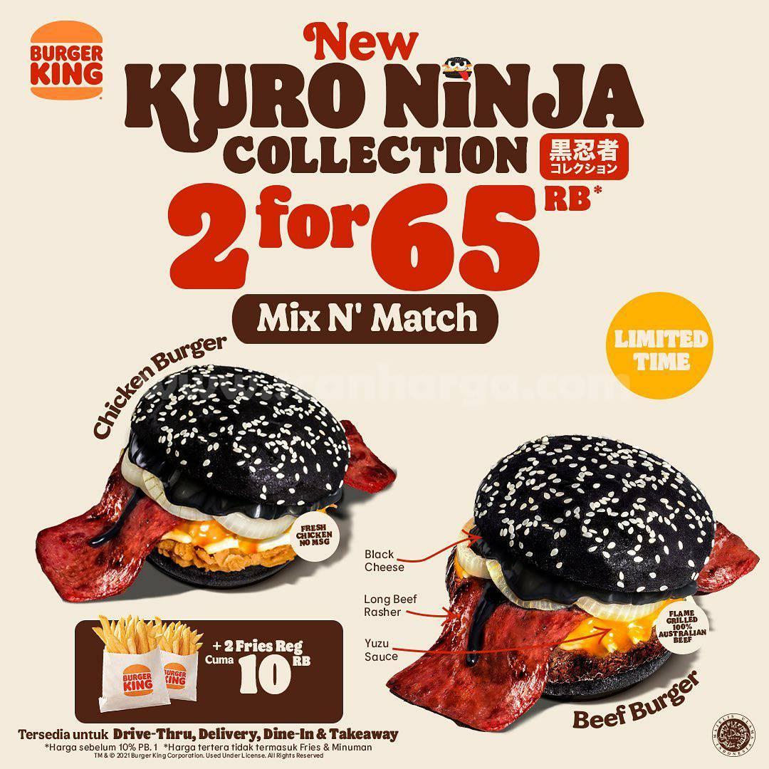 Burger King Kuro Ninja Collection - Menu Baru Burger dari BK