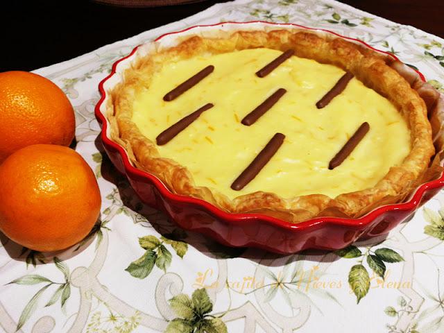 Tarta de crema de naranja