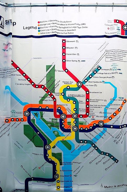DC Transit Map Shower Curtain