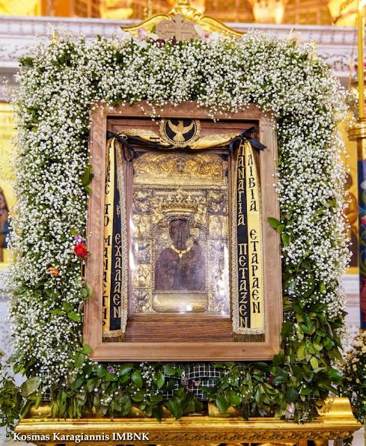 Στο αντιτορπιλικό πλοίο «Βέλος» μεταφέρθηκε η εικόνα της Παναγίας Σουμελά