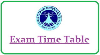 Tezpur University Exam Routine 2020
