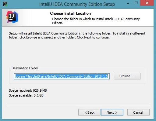 IntelliJ IDEA Community Edition Setup-Choose Location-Kotlin