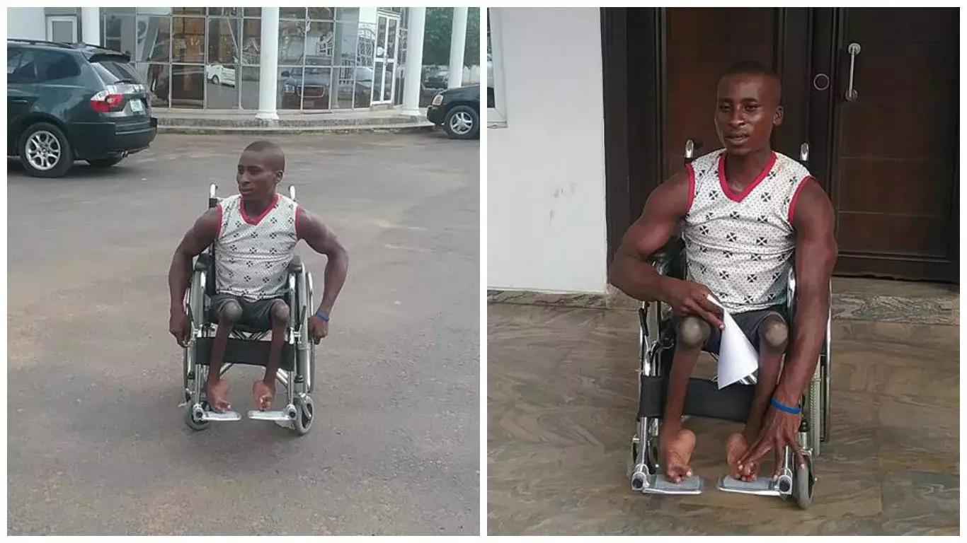 wheelchair jumia chair yoga peterfabiantv blog deputy governor of imo state ezeakonobi madumere gives crippled man photos