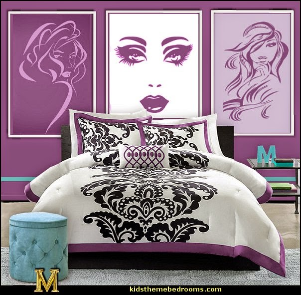 diva style wall decal fashionista theme bedroom decorating ideas