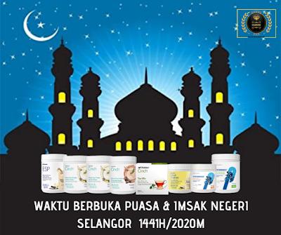 Waktu Berbuka Puasa & Imsak Negeri Selangor Tahun 2020