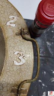 estencil con pasta de modelar
