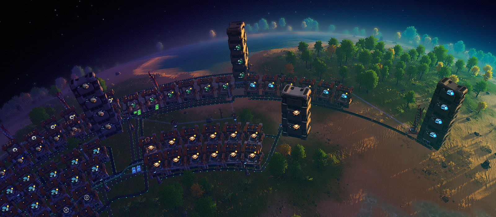 How the Dyson Sphere Program balances the performance of miners, smelters and plants