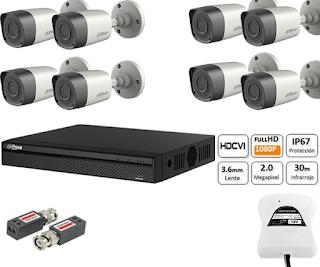 Camaras de Seguridad 2MP 1080P Dahua Ssiga
