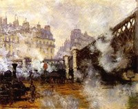 Claude Monet: Le Pont de L'Europe in the Gare Saint-Lazare, 1877