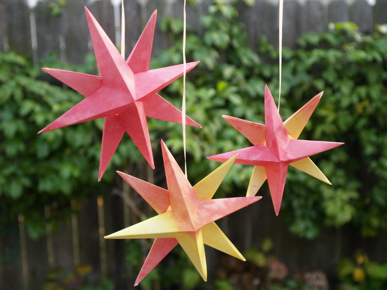 Holidays Making And Hanging Our Folded Paper Christmas Origami Stars I Love This Waldorf CraftThis Year We Used The Watercolor Paintings That
