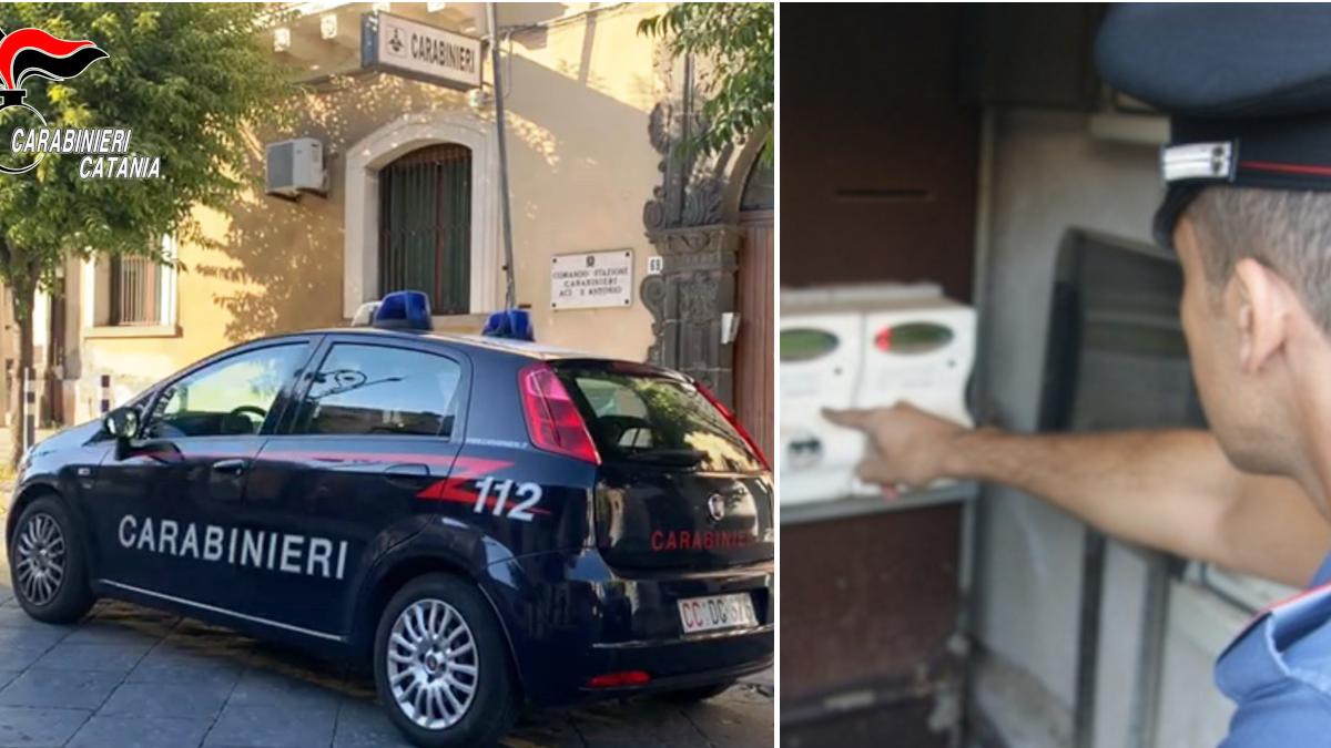 Carabinieri Aci Sant'Antonio furto energia elettrica