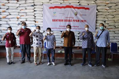 Pemprov dan Bulog Lampung Luncurkan Program Bantuan Beras PPKM 2021