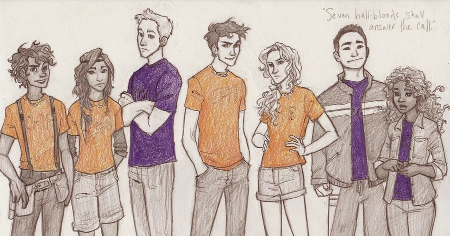 The Reading Addict: Fan Art Friday: The Heroes of Olympus by