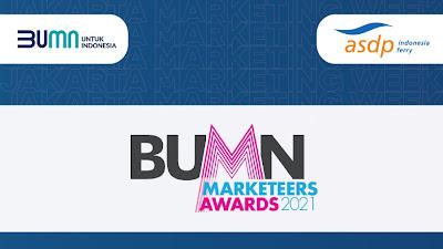 ASDP Raih Dua Penghargaan di Ajang BUMN Marketeers Award 2021