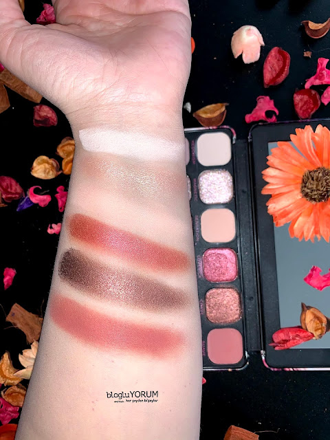Revolution Forever Flawless Allure Far Paleti İlk Sıra Swatch Flaş