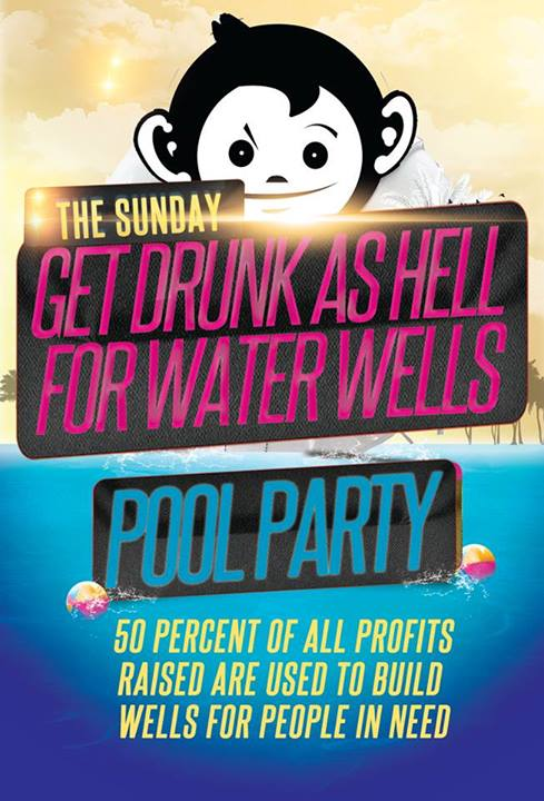 pool party poster Mad Monkey Hostel, Siem Reap