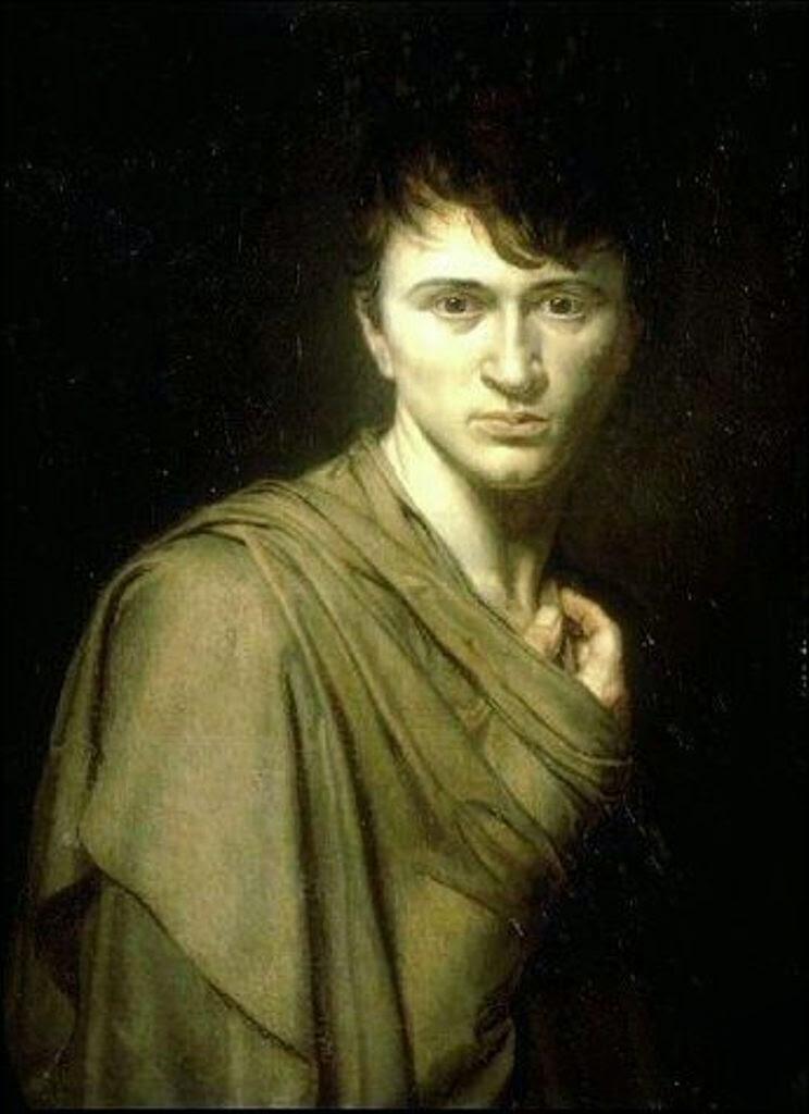 Alexandre-Denis-Abel de Pujol,  Self Portrait, Portraits of Painters, Fine arts, Painter Alexandre-Denis-Abel de Pujol