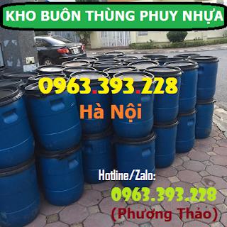 Kho cung cấp thùng phuy nhựa 50L nắp mở tại Hà Nội