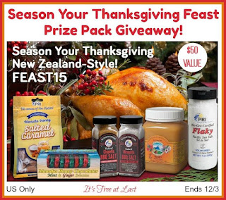 Enter the Season Your Thanksgiving Feast Prize Pack Giveaway. Ends 12/3