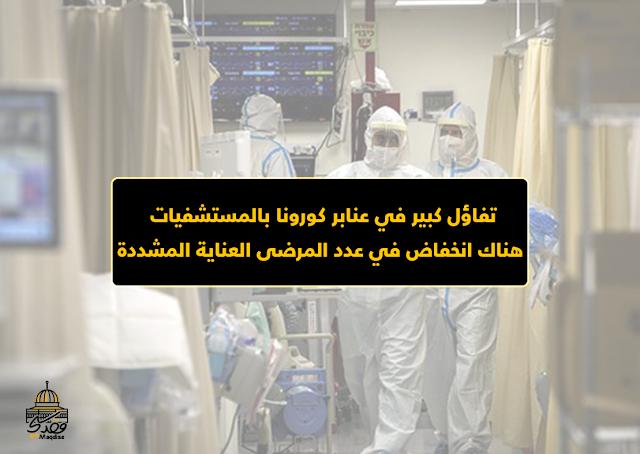 تفاؤل كبير في عنابر كورونا بالمستشفيات : هناك انخفاض في عدد المرضى العناية المشددة