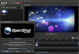 aplikasi Video editor gratis OpenShot