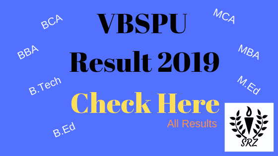 VBSPU Result 2019 BCA, VBSPU Result, VBSPU, MCA Result 2019, B.sc Result 2019, VBSPU All Results 2019