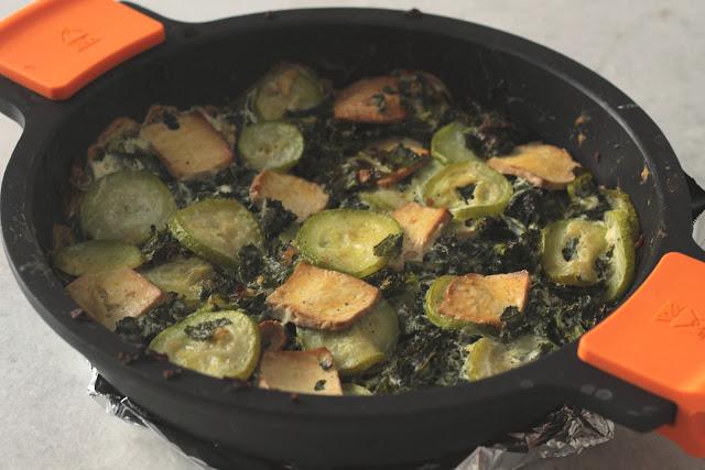 Tofu Con Kale Horneado