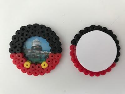 Disney Cruise Hama bead magnet