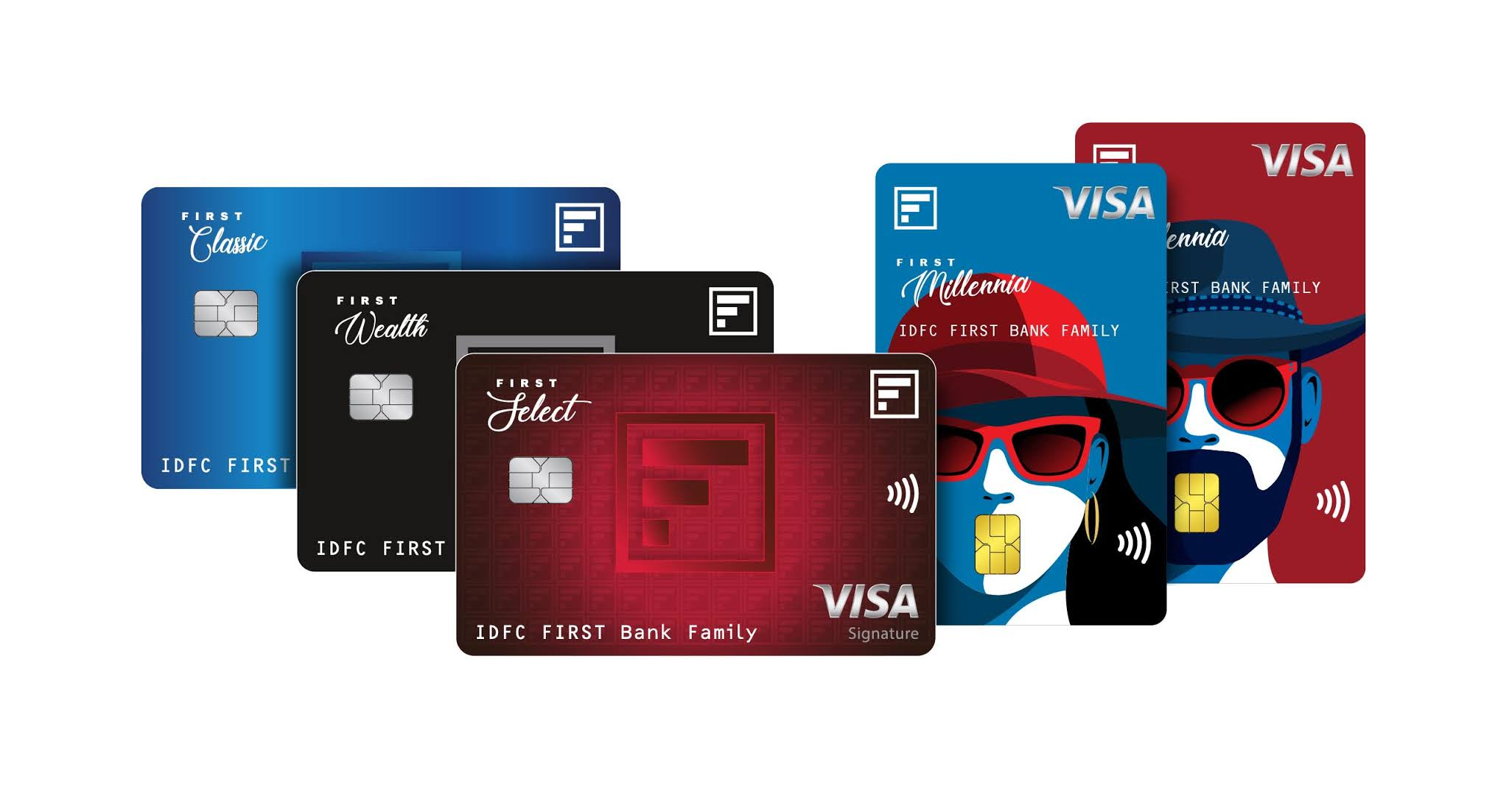 IDFC Bank First Credit Cards Series | Millenia | Classic | Select | Wealth