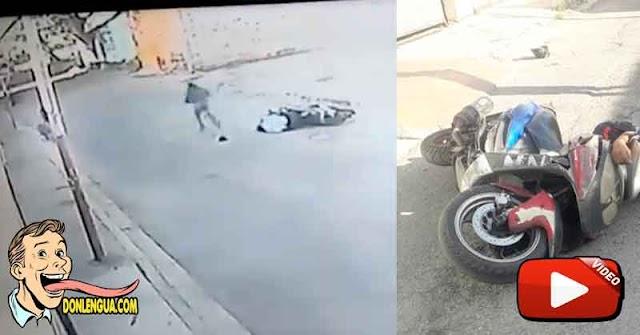 Policía de Aragua asesinado en su moto por un individuo al que le dio la cola