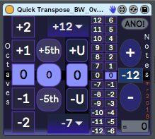 synthesizerwriter: Quick Transpose Special Edition - an