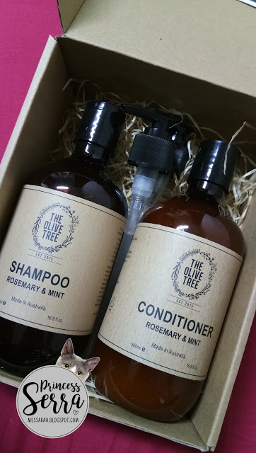 The Olive Tree shampoo and hair conditioner