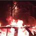 Se incendia camioneta en el Barrio de La Huaca, en Veracruz puerto