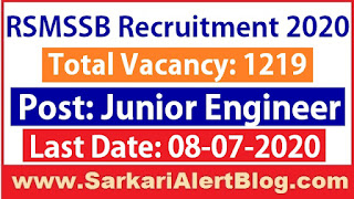 http://www.sarkarialertblog.com/2020/06/rsmssb-junior-engineer-recruitment-2020.html