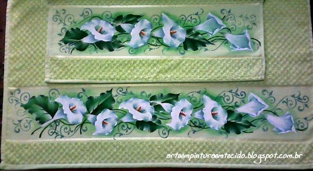 toalhas pintadas a mão