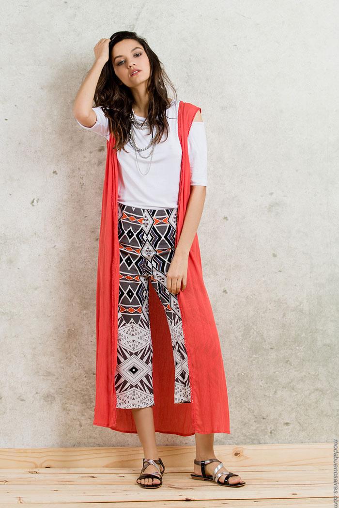 Moda mujer verano 2017 ropa de mujer verano kimonos y maxicamisas.