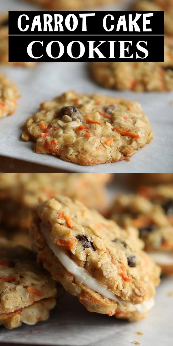 CARROT CAKE COOKIES #cookiesrecipes